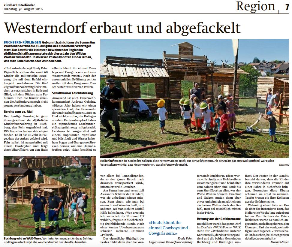 KiFeu Bericht Zürcher Unterländer