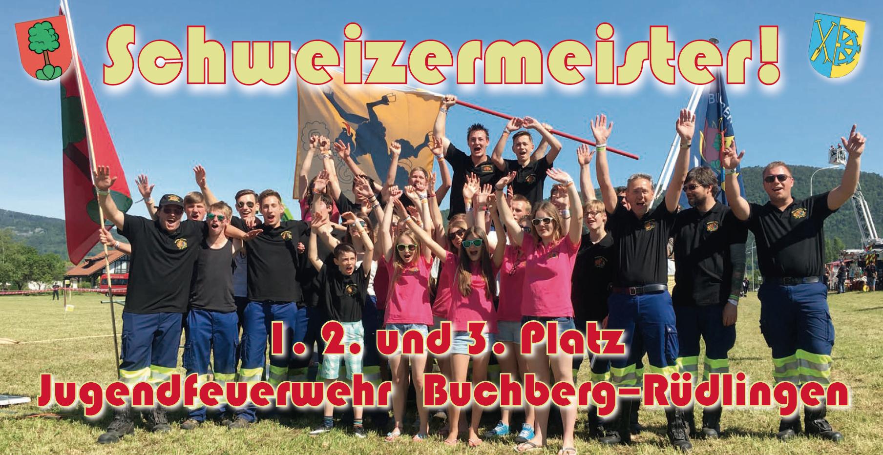 Jugenfdeuerwehr Schweizermeister 2016 Buchberg Rüdlingen